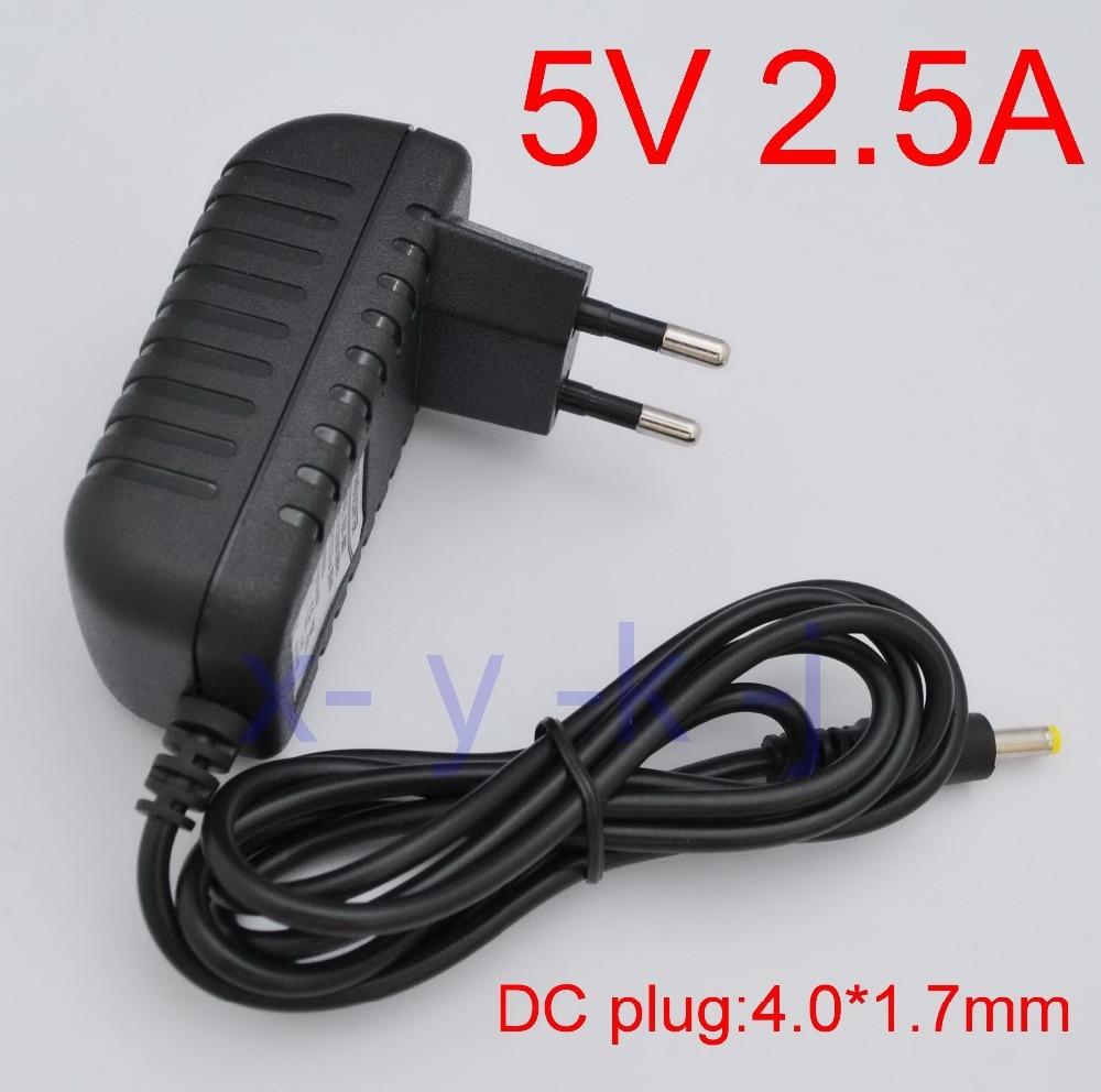 Hohe qualität 1 stücke AC 100 V-240V Konverter IC power Adapter DC 5 v 2.5A 2500mA 12,5 watt Netzteil EU Stecker DC 4,0mm x 1,7mm