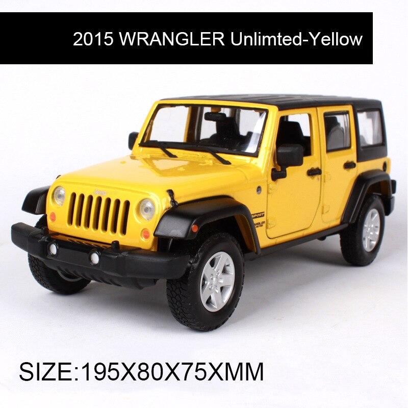Maisto 1:24 литья под давлением модель внедорожника 2015 WRANGLER Обслуживаемая брелок для автомобильных ключей, металлические игрушки подарок модиф...