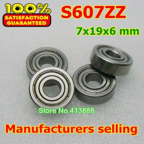10 unids/lote rodamientos de bolas de gran calidad ABEC-1 Z2V1 SUS440C de...