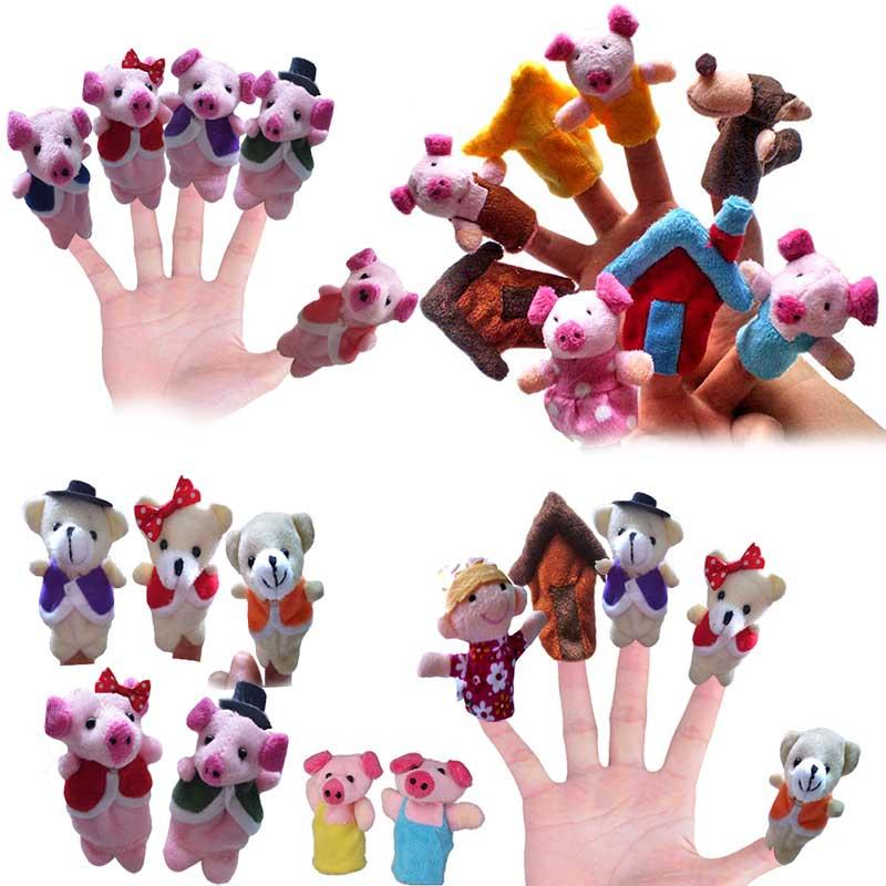 5/8 pçs dizendo saco fantoches dedo berçário rima conto de fadas aussie animais brinquedos presente das crianças @ z336 fj88