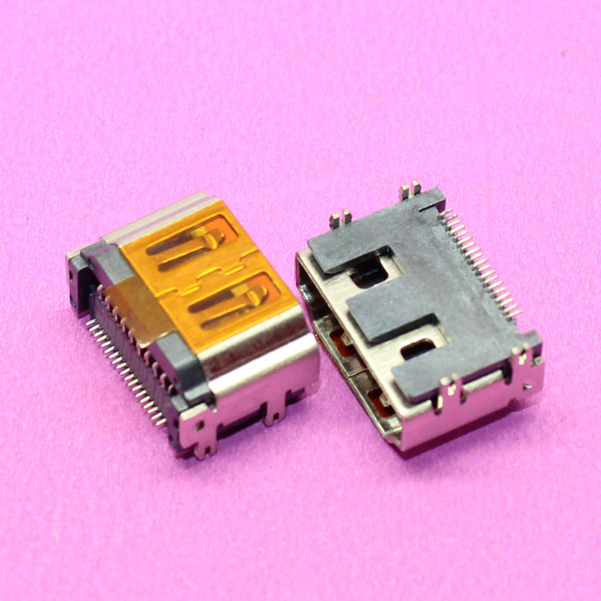 YuXi de alta calidad HDMI 19Pin SMT PCB soldadura interfaz de montaje conector hembra