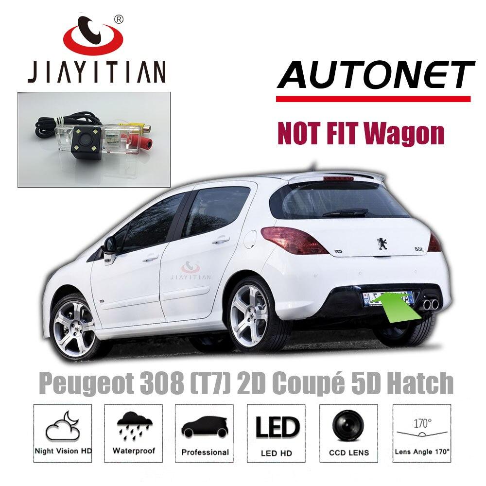Cámara trasera JIAYITIAN para Peugeot 308 T7 2D Coupe Cabriolet/3D 5D Hatchback/cámara de respaldo/CCD/visión nocturna/matrícula