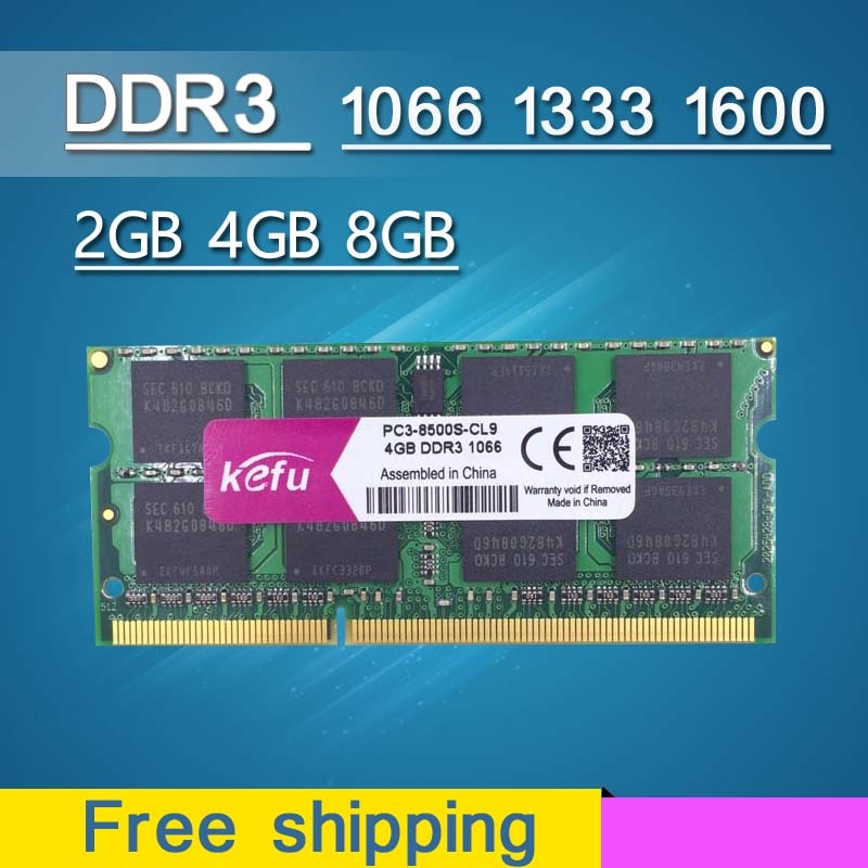Memoria Ram DDR3 para portátil, 4GB, 8GB, 2GB, 1066, 1333, 1600mhz, 1066mhz,...
