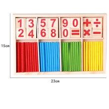 Bâtons de comptage en bois jouets éducatifs mathématiques Montessori jouets éducatifs mathématiques interaction Parent-enfant bébé enfants cadeaux
