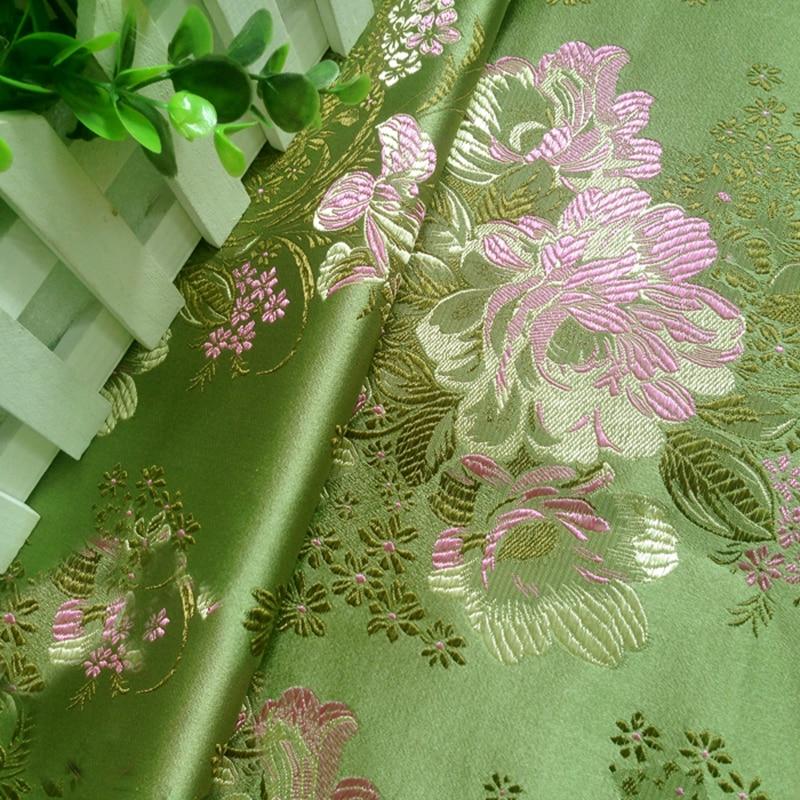 75x100cm New fashion green MUDAN fabric african satin fabric for patchwork,wedding dress,upholstery sofa scrapbooking