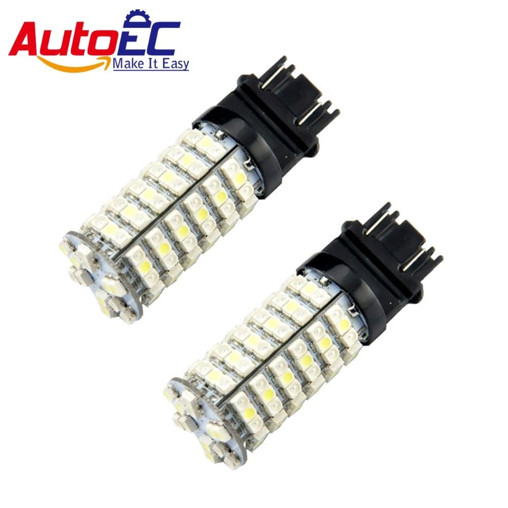 AutoEC 50X T25 3157 120smd 1210 3528 3356 3456 3357 12 V Weiß + gelb Dual farbe Intensity Turm Stop Signal licht # LE11