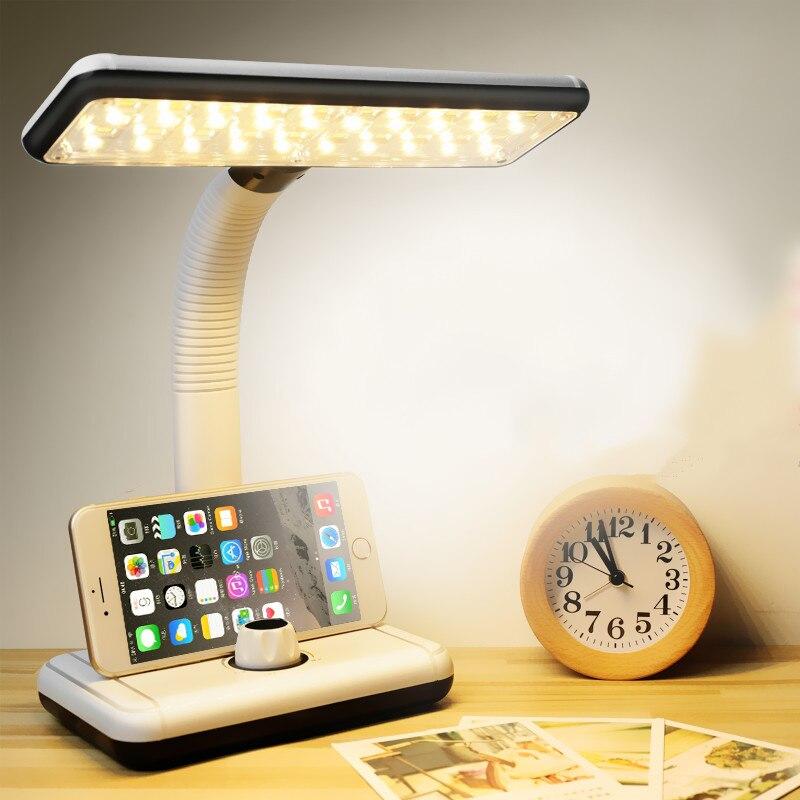 Lámpara de mesa LED de alta calidad sin límite de atenuación, luz de noche de carga, lámparas de escritorio de lectura, iluminación interior de estudio de dormitorio