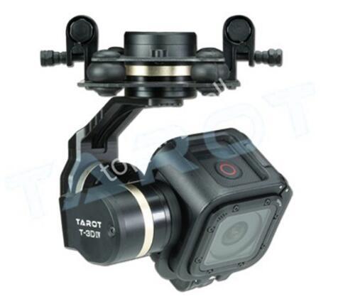 Cardán sin escobillas Tarot GOPRO T-3D IV Metal 3 Axis para GoPro Hero 4 Session TL3T02