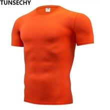 2018 NEW Trendy Summer Men T Shirt Casual Slim Men's Basic Tops Tees Stretch T-shirt Mens Clothing Chemise Homme