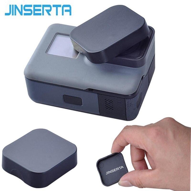 JINSERTA, tapa de objetivo de plástico negro para GoPro Hero 6, edición negra, cámara Go pro 6/5, accesorios, funda protectora