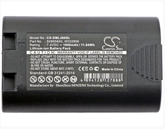 Batería de 1600mAh para 3M PL200 para DYMO LabelManager 360D 420P Rhino 4200 5200 1759398 S0895840 W002856