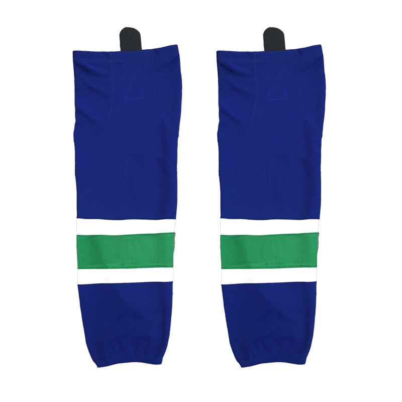 COLDINDOOR 100% calcetines de Hockey sobre hielo azul de poliéster espinilleras baratas W007