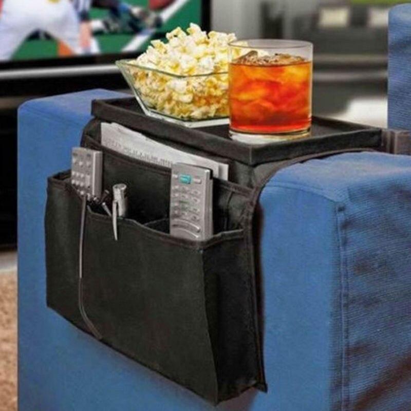 Sofa Chair Storage Bag Couch Arm Rest Table Organizer Tray Sofa Pockets Remote Magazine Rack 6 Pocket