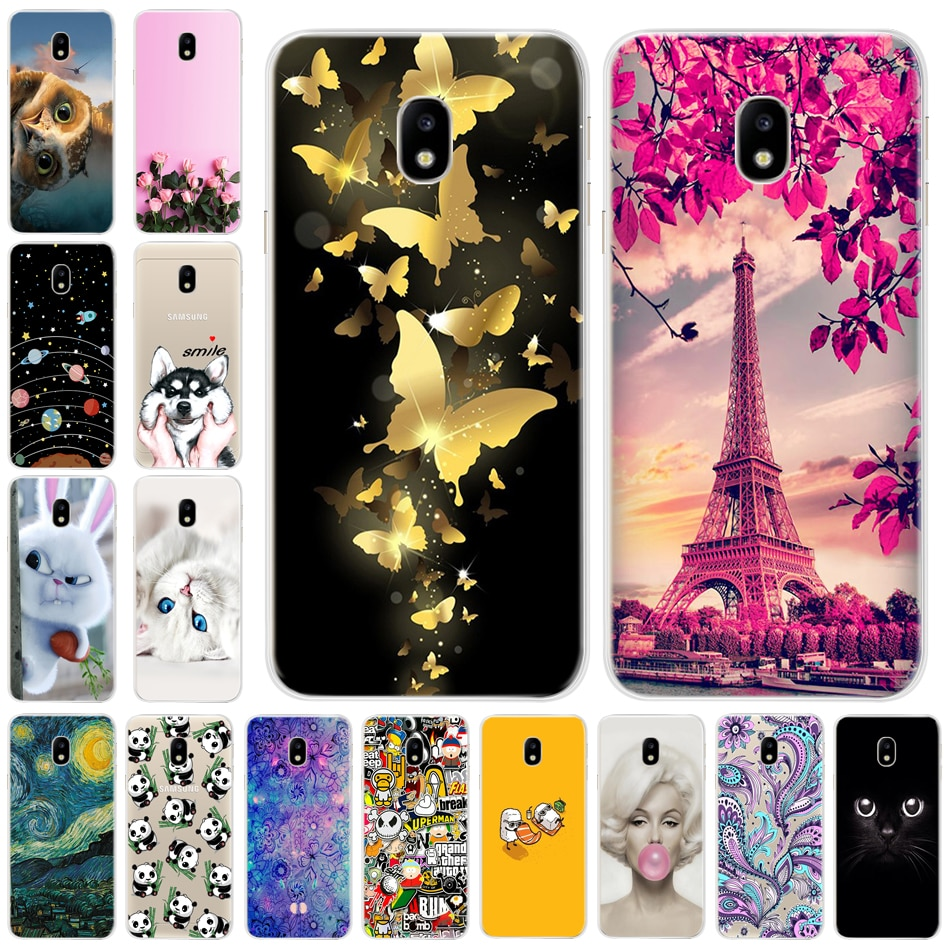 """Teléfono de lujo funda para Samsung Galaxy J3 2017 5,0 """"Fundas de cubierta trasera de silicona suave para Galaxy J330F J330 versión EU Fundas"""