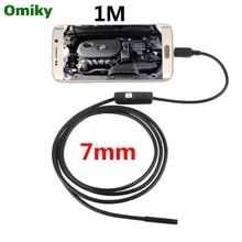 6 LED 7 مللي متر عدسة المنظار مقاوم للماء التفتيش Borescope أنبوب كاميرا 1 متر ل أندرويد ثعبان التفتيش كاميرا N1212