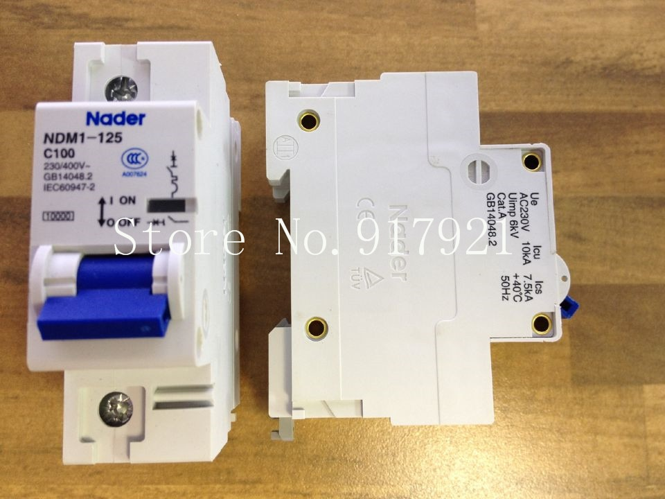[ZOB] جديد أصيلة نادر C100 قاطع الدائرة 1P100A إلكتروني NDM1-125-10 قطعة/الوحدة