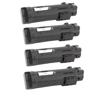4 Black Toner Cartridge Compatible for Dell H625cdw H825cdw S2825cdn  Black 3000 pages  Cyan Magenta Yellow 2500 pages