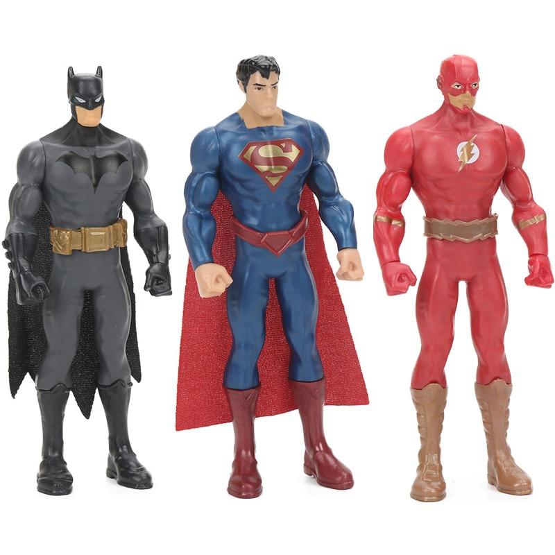 Caixa original 15cm comics brinquedos liga da justiça figura flash batman superman pvc figuras de ação brinquedo coleção modelo bonecas