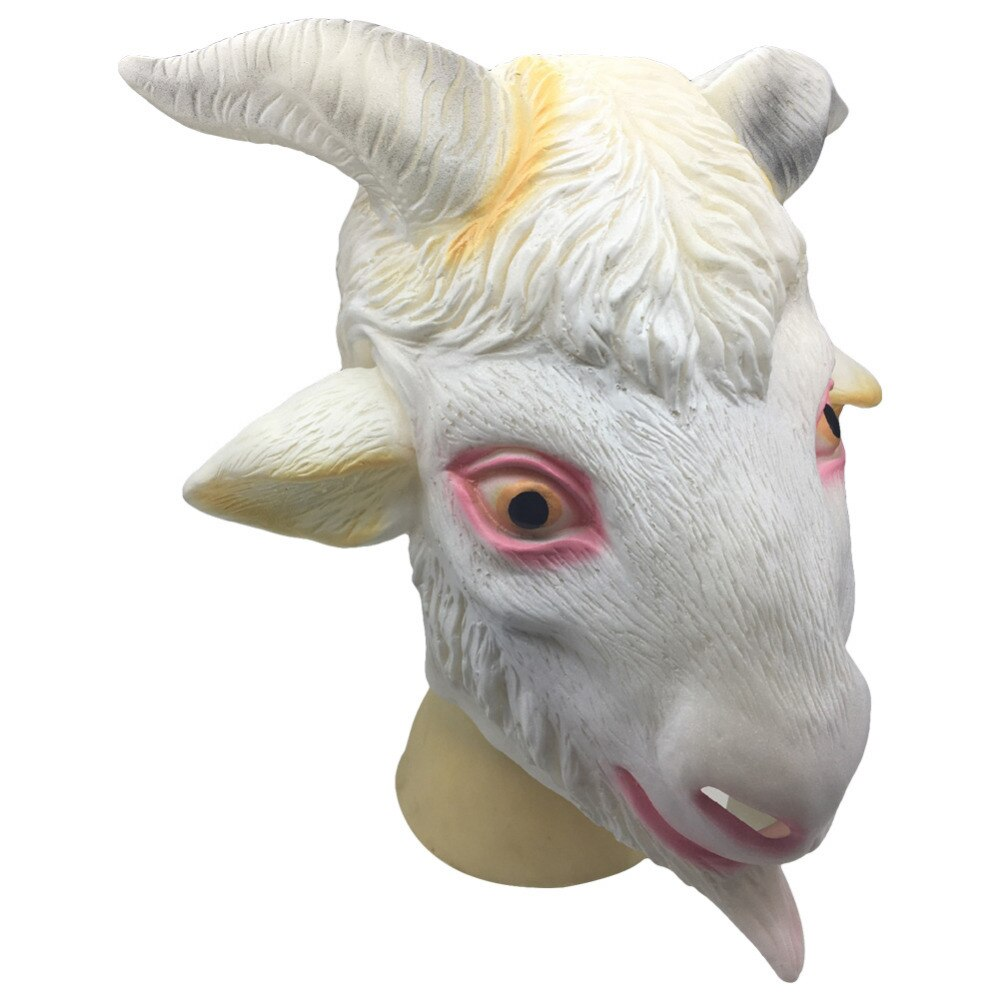 Cabeça Da cabra Ovelha Máscara de Látex Máscaras Um tamanho Máscara Halloween Party Cosplay Animal Toy Prop