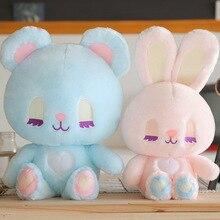 35*40cm mignon lapin ours Kawaii Animal poupée doux en peluche jouet qualité bébé dormir cadeau danniversaire fille enfant décoration apaiser