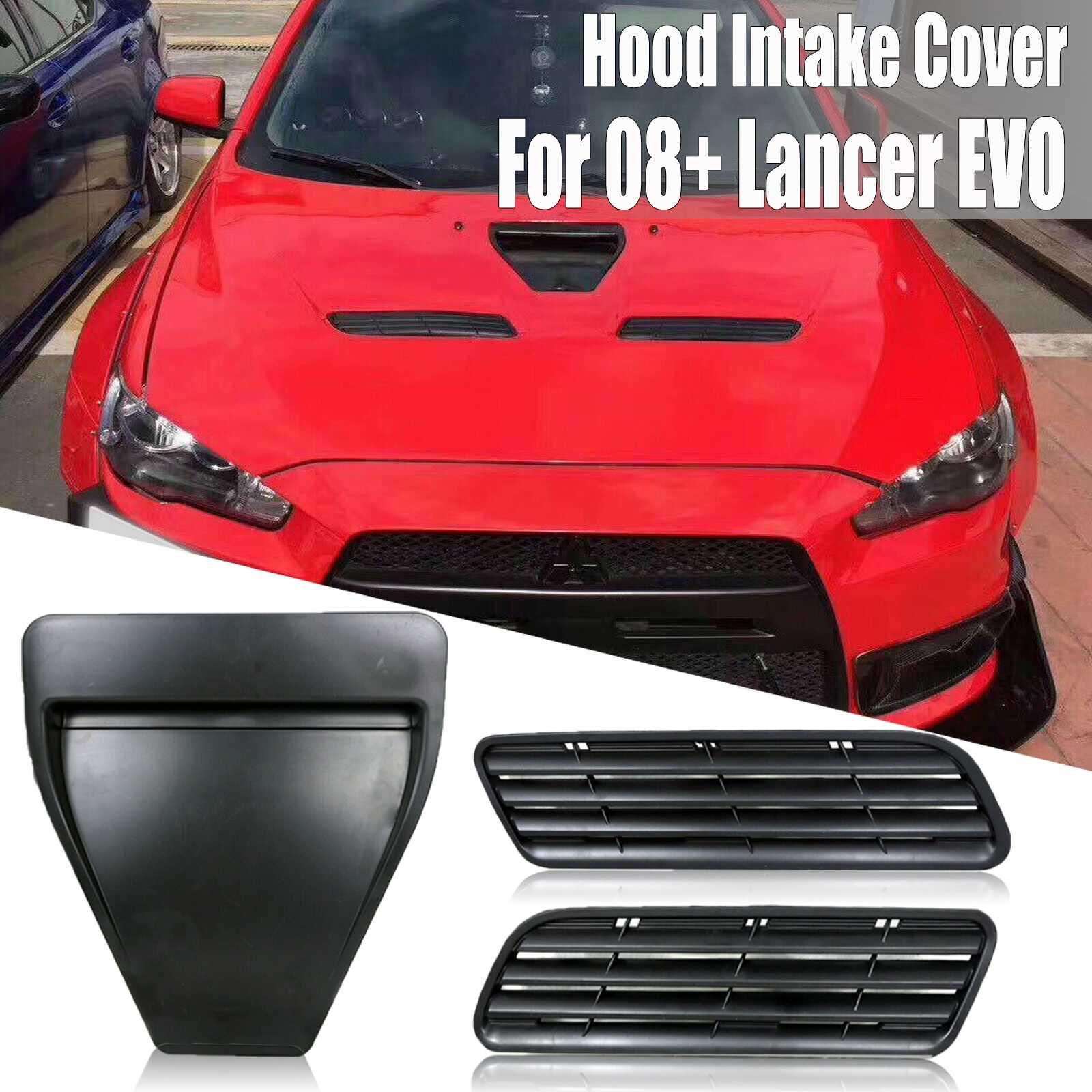 Campana de ventilación ABS de estilismo para automóvil, capó de ventilación, tapa de ventilación de admisión para Mitsubishi Lancer GTS EVO 10 X GSR 08-15, campana de ventilación con estilo