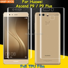Front / Back Full Coverage Clear Soft TPU Film Screen Protector For Huawei P9 / P9 Plus ,Cover Curve