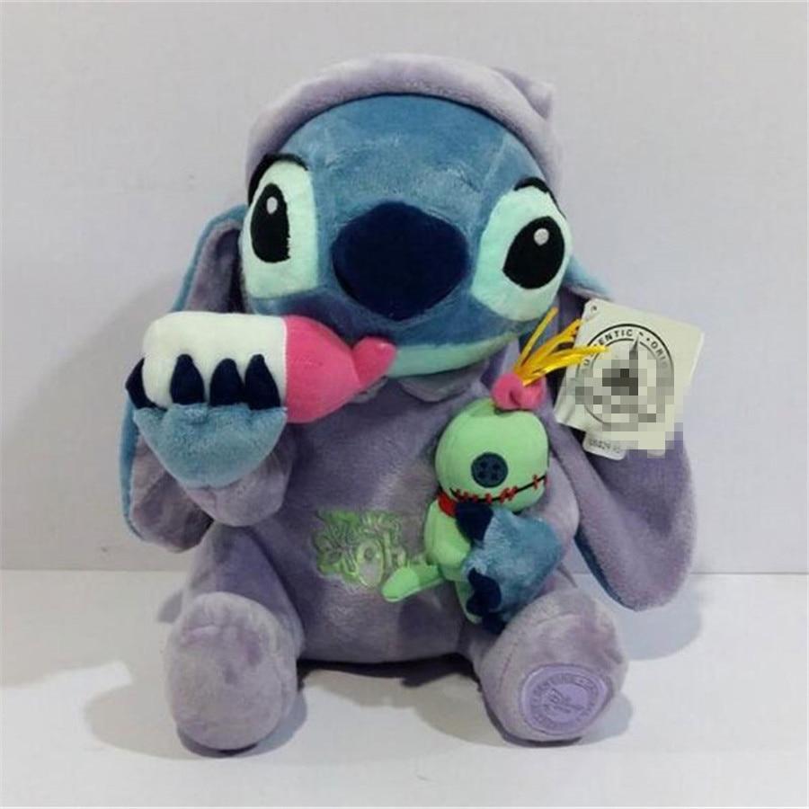 1pcs Lilo Stitch Plush Toys Plush Toys Stitch Holding Scrump Stuffed Animal Dolls 26 CM Children Soft Toys Gift