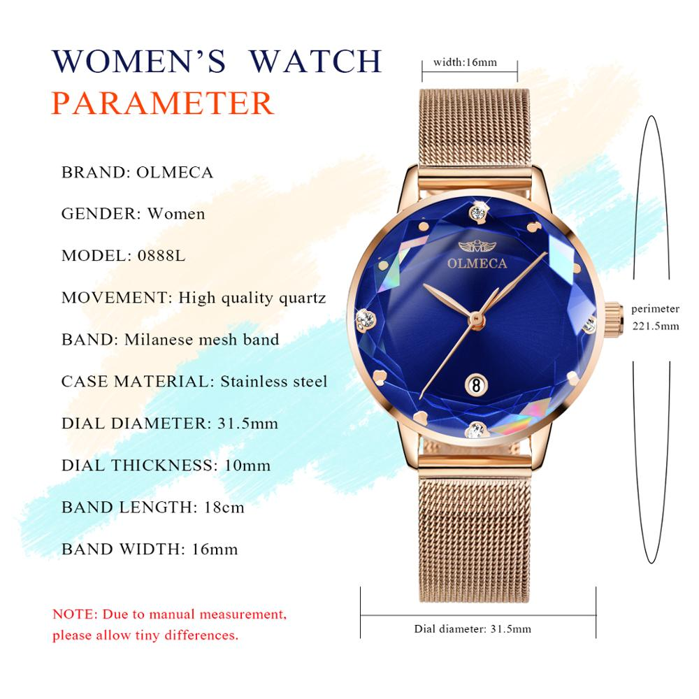 Top Brand OLMECA Relogio Feminino Waterproof Watches Wrist Clock Military Watch Watches for Women Classic Aolly Fashion Watch enlarge