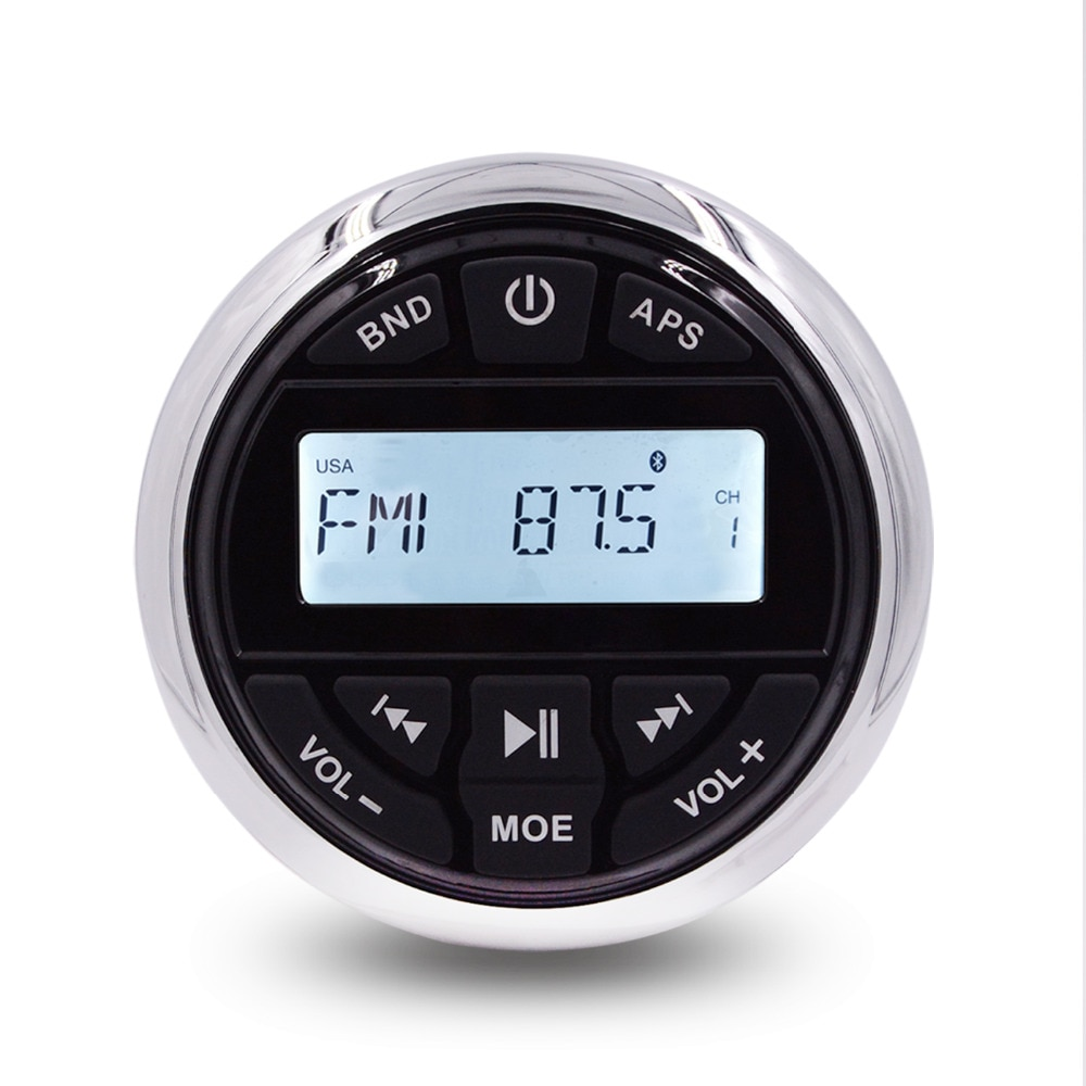 HASDA Wasserdichte Marine Bluetooth Stereo Radio Audio FM AM Empfänger Auto MP3 Player Für ATV UTV RV Boot Yacht Motorrad