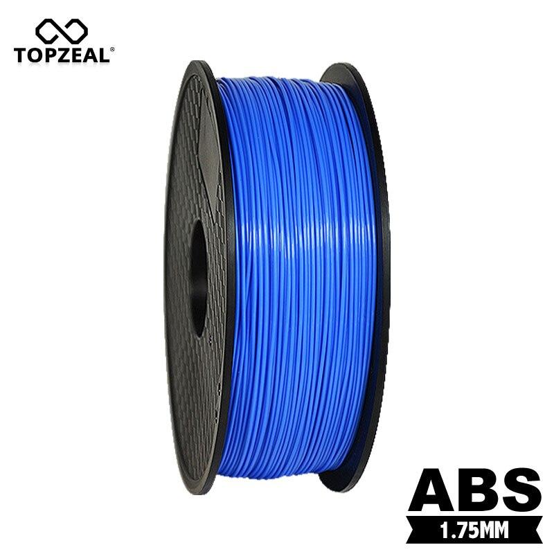 TOPZEAL-فتيل للطابعة ثلاثية الأبعاد ، فتيل ABS ، لون أزرق ، 1.75 مللي متر ، 1 كجم ، تحمل 0.02 ، أداء عالي ، للزينة