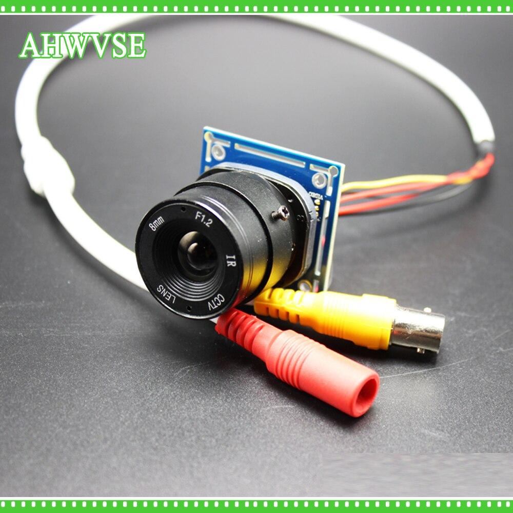AHWVSE CMOS 1200TVL Мини CCTV камера модуль с BNC кабелем и CS объектив 4 мм 6 мм 8 мм 12 мм 16 мм
