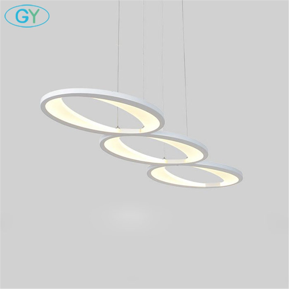 Moderne acrylique pendentif led lumière L100cm/39in 48W cuisine salle à manger île lumières LED lampe suspendue Luminaires LED plafonnier