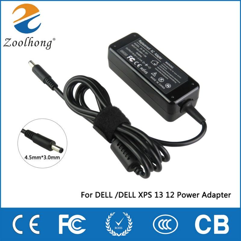 Para DELL 19,5 V 2.31A 4,5mm * 3,0mm portátil AC Cargador/adaptador de corriente XPS 12 13 13R 13Z 14 13-L321X 13-6928SLV 13-4040SLV