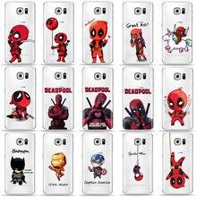 Lustige Marvel Batman Chibi deadpool Telefon Fall Für SamSung S10 S8 S9 Plus S7 Rand A9 A6 A7 2018 A5 TPU Abdeckung für Samsung A50 Fall