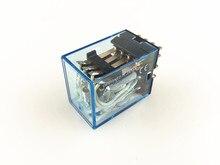 Batterie relais puissance MY4NJ 24V cc   Mini relais 4NO 4NC, 14 broches 5A 240VAC HH54P, 10 pièces/lot