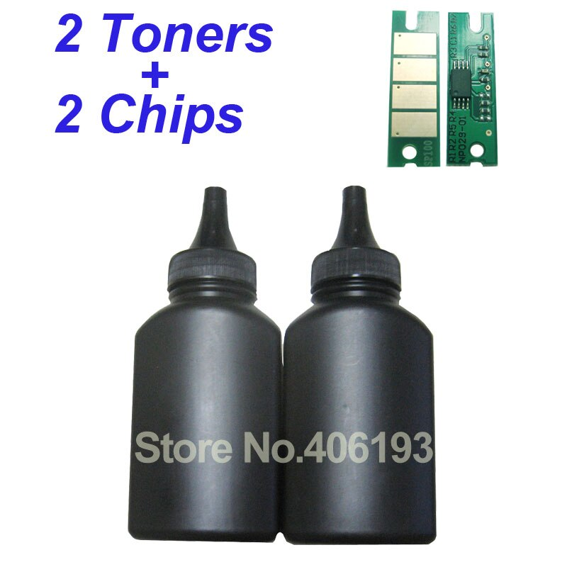 Recarga de polvo de tóner + chip de reinicio para Ricoh SP3400 SP 3400 SP3400n SP 3410 SP3410 SP 3500 SP3500n sp3510ding SP3500 SP3510