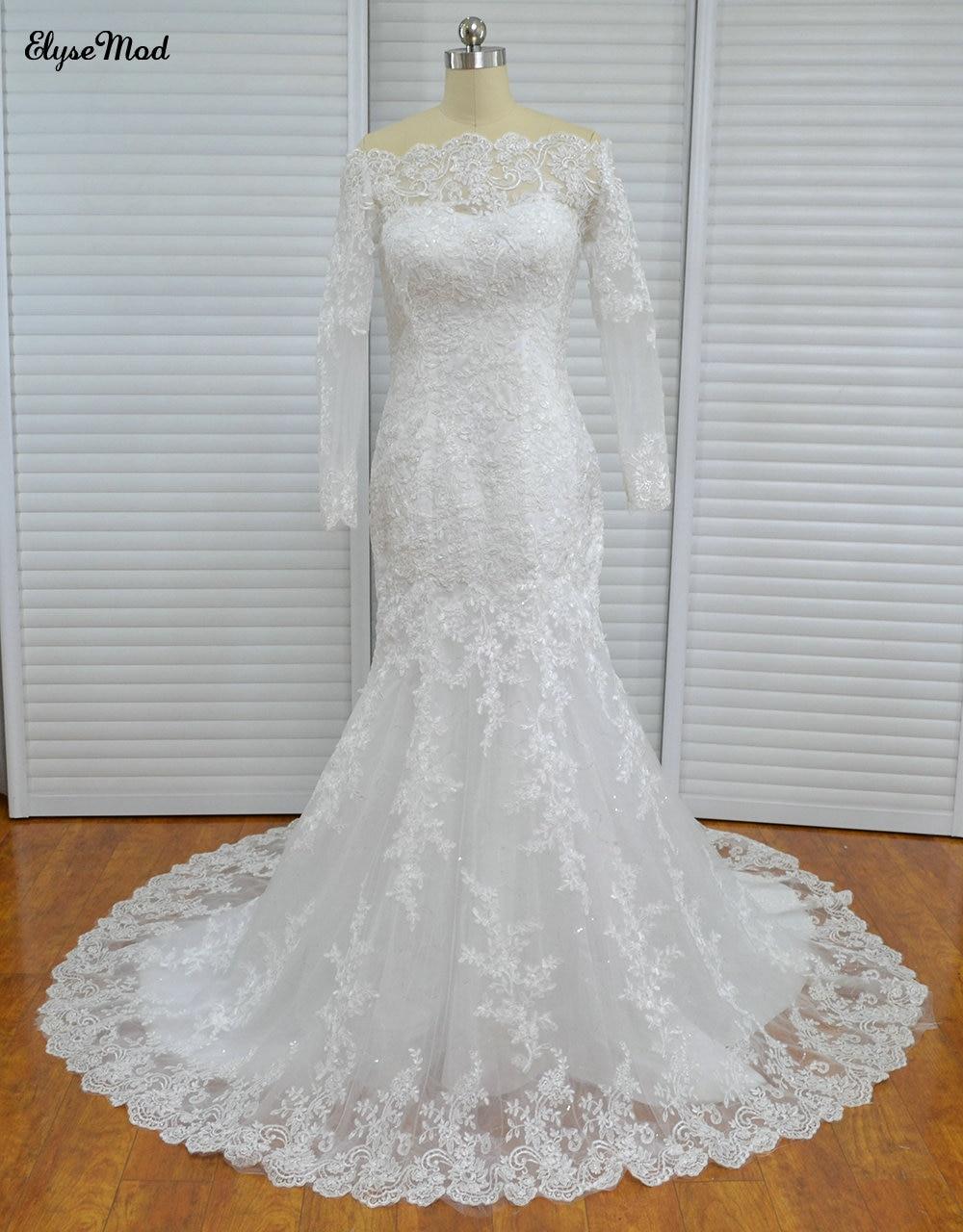 Реальное фото, платье Русалочки с плеча, лодочка, тюль, с аппликацией, с коротким шлейфом, на молнии, свадебное платье, платья для невесты