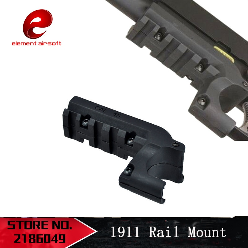 Element Airsoft Clot 1911 M1911 45 Pistol 20mm Under Rail Mount Pistol Rail Adapter Laser Mount Softair BK DE PA0205