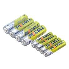 8 pièces/lot 3A Ni-MH AAA piles 4 pièces 600 mAh 1.2V AAA & 4 pièces AA 600MAH aa batterie Rechargeable pour appareil photo lampe de poche jouet