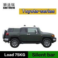 SHITURUI-barre de toit ultra silencieuse   Serrure à ceinture, en alliage daluminium, pour Toyota Camry Highlander Prius Rav4 reiz 4 Verso, voiture
