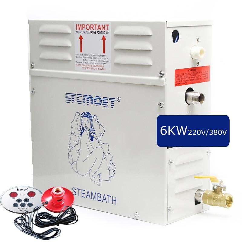 6KW Steam Generator for Shower 220V-240V Home Steam Machine Sauna Bath SPA Steam Shower with Digital Controller