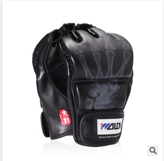 Перчатки для ММА, черные/белые, W8861