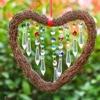 H & D a Forma di Cuore Fengshui Arcobaleno Creatore di Cristallo Suncatcher Finestra Del Pendente Sfera di Lampadario Prismi Giardino di Casa Decorazione Ornamento