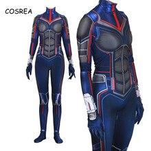 Super-héros guêpe Cosplay Costumes Janet Van Dyne Ant-Man Halloween fantaisie balle combinaisons fermeture éclair body