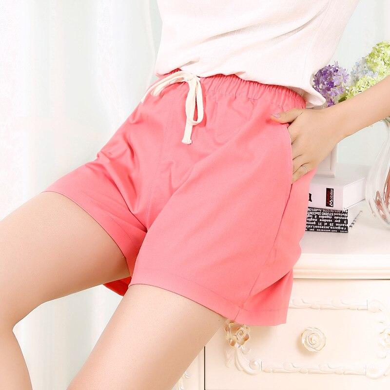 Danjeaner S-2XL shorts femininos casual moda doce cor ampla perna shorts plus size solto lazer drawstring shorts