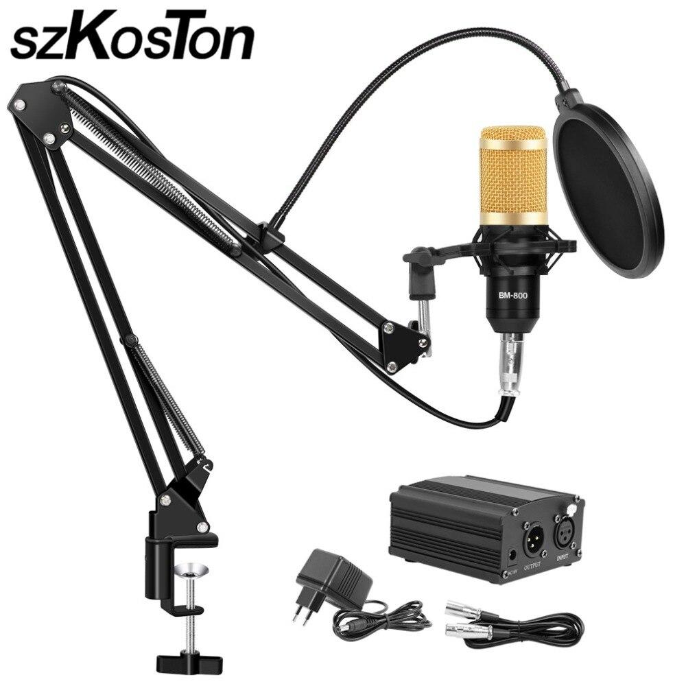 BM 800 Studio Mikrofon für Computer Karaoke Mikrofon mit Mic Stehen Professionelle Kondensator Mikrofon Kit Studio Mikrofon