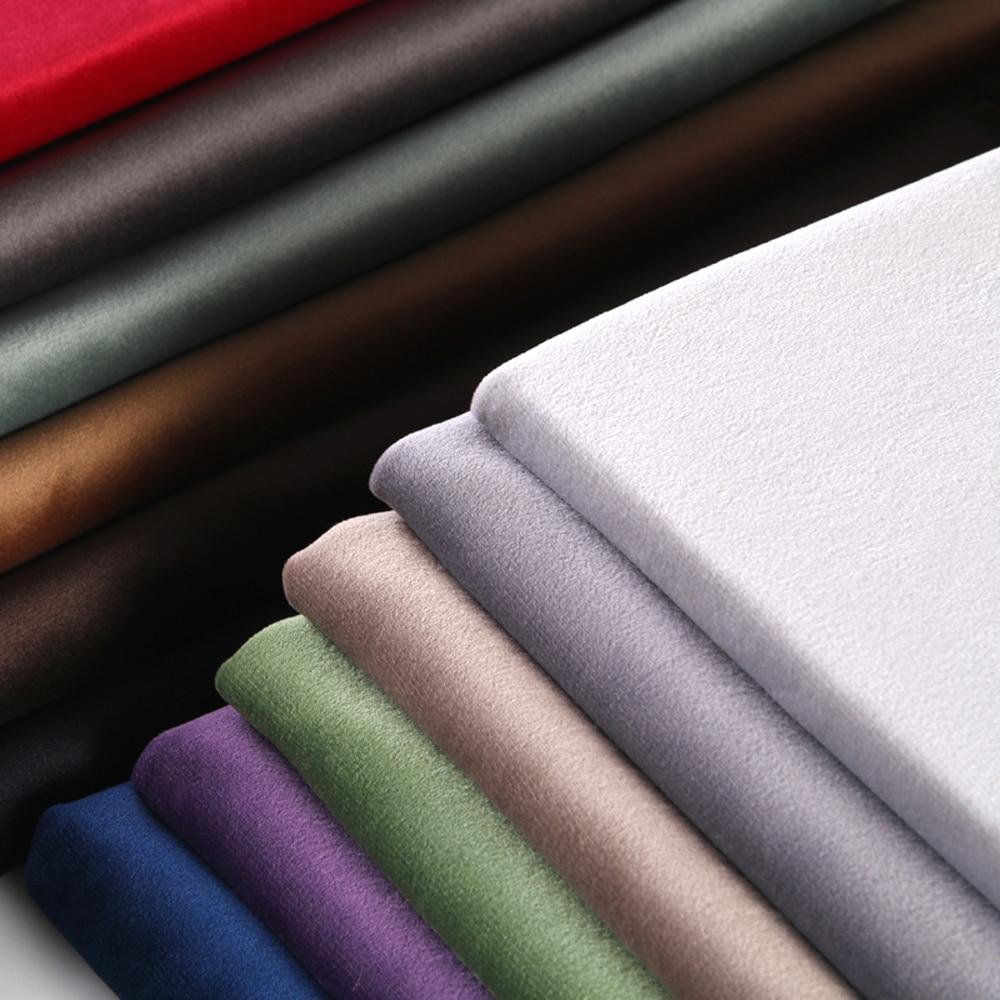 ESSIE HOME 280cm Cotton Velvet Fabric Velour Fabric Pleuche Fabric Table Cloth Upholstery Curtain Fabric Tender Pastel Color