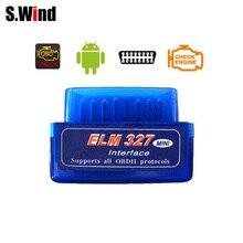 ELM327 OBD2 II Scanner dinterface de Diagnostic automobile   Mini V2.1 Interface Bluetooth outil de Diagnostic de voiture bleu