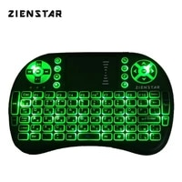 zienstar russia mini 2 4g wireless keyboard with 3 color backlit air fly mouse remote control touchpad for tv box smart tv