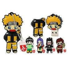 Naruto USB lecteur Flash dessin animé stylo lecteur 4GB 8GB 16GB 32GB Ninja Usb lecteur Flash cadeaux Mini Uzumaki Naruto Gaara stockage de mémoire